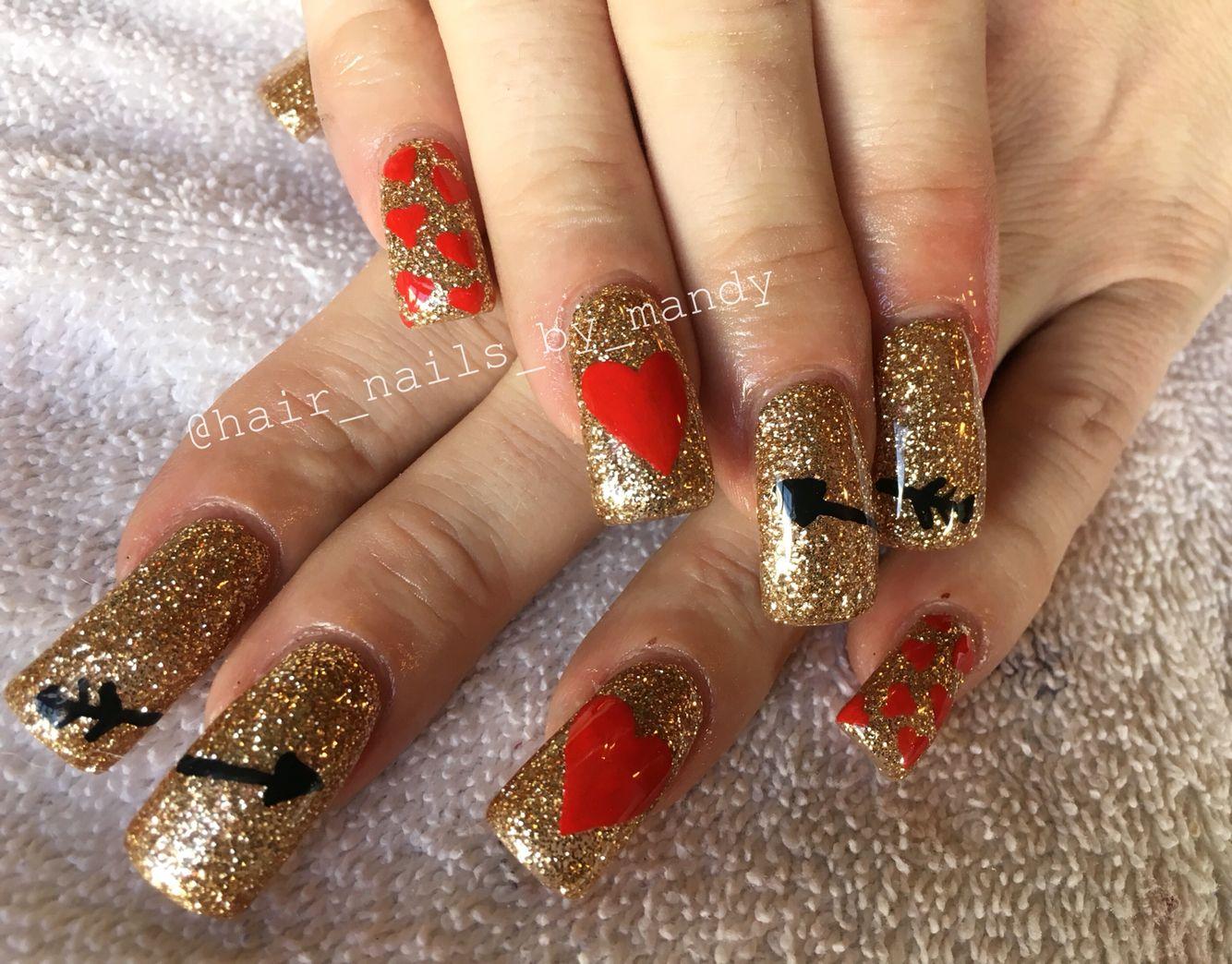 Valentine\'s Day gel nails | Nails I\'ve done | Pinterest