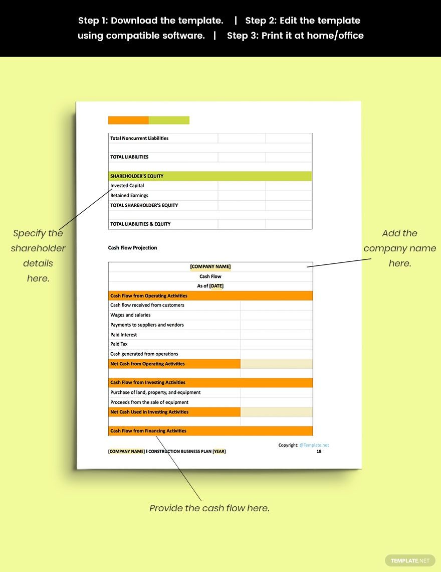 Free Simple Construction Business Plan Template Word Doc Apple Mac Pages Google Docs Business Plan Template Word Business Plan Template Business Planning Construction business plan template word