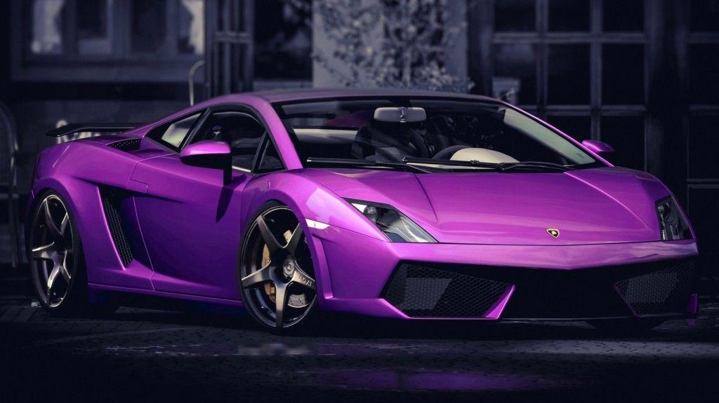 Superieur Purple Color Lamborghini Gallardo Car HD Wallpaper