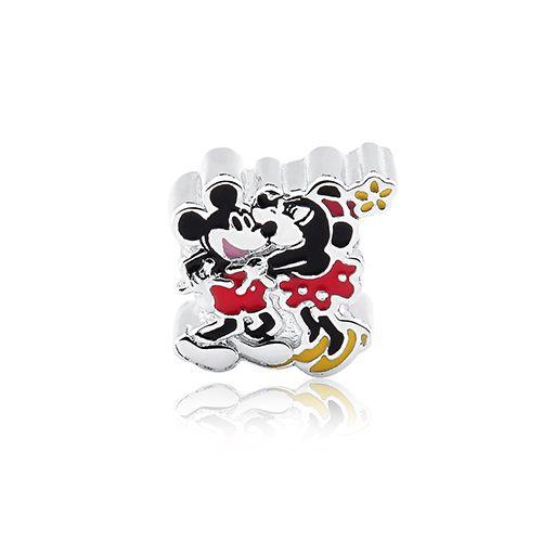 Pingente Prata 925 Mickey e Minnie Coleção Love Me. Life Moments