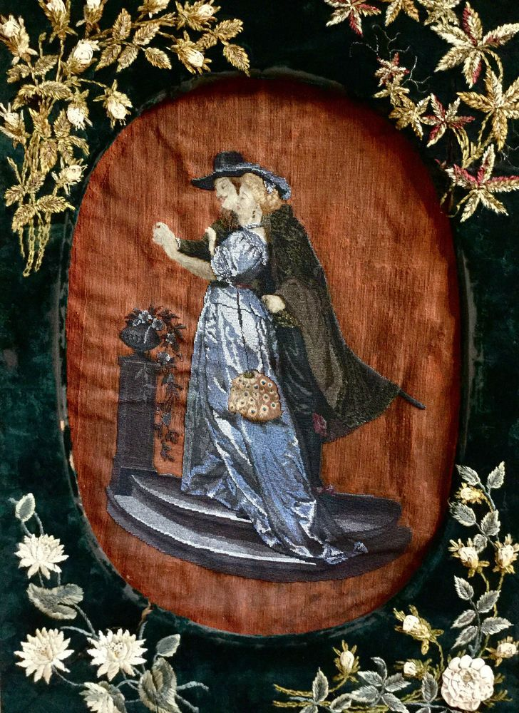 Antique large tapestrybeaded magnificent qualityoriginal