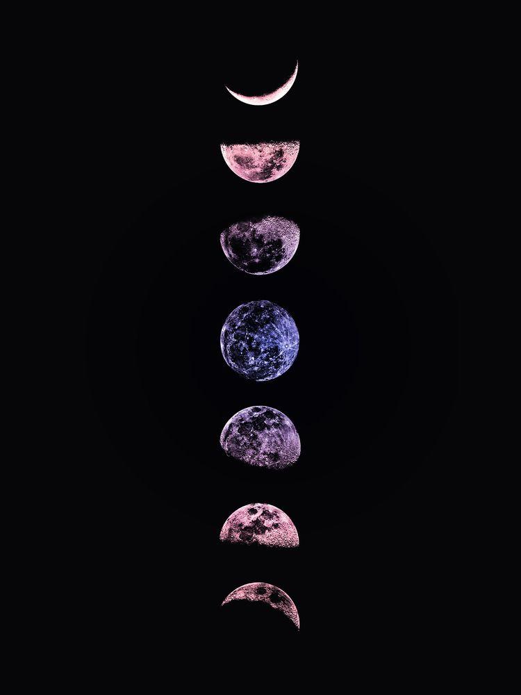 Ultraviolet Moon Throw Pillow