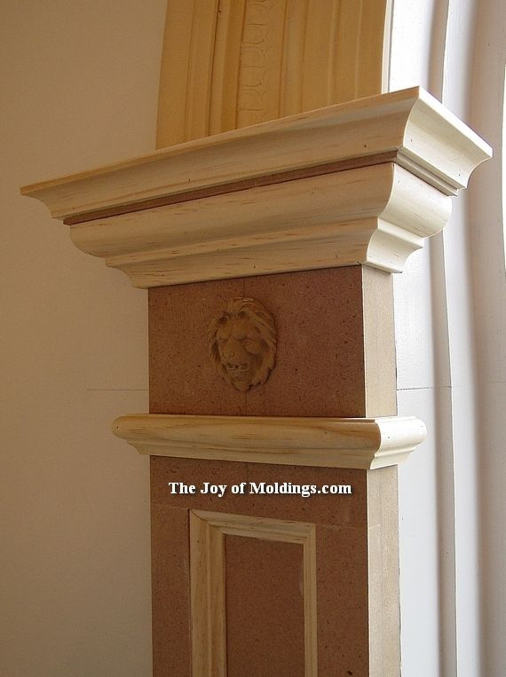 Exterior: Simple Paneled Pilaster With Lion Head