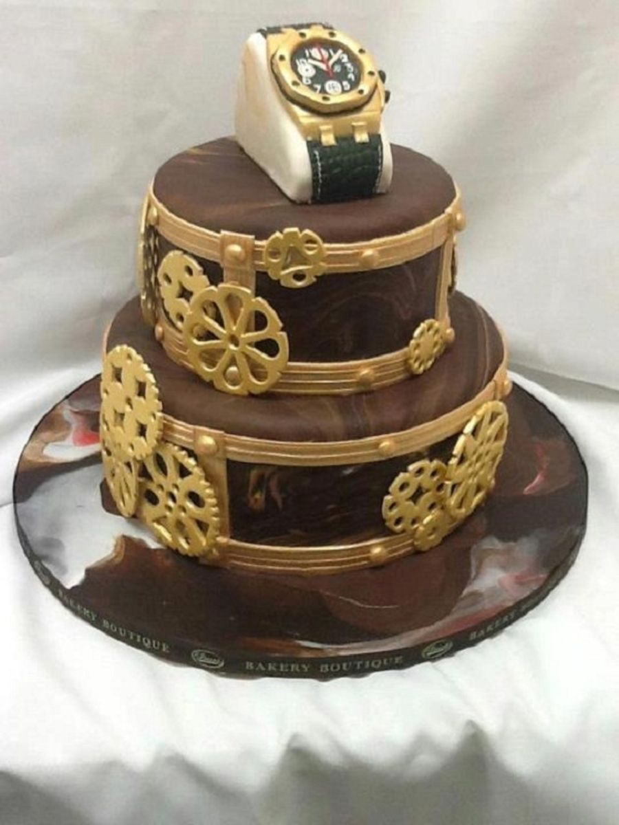 Custom Watch Cake For Him on Cake Central Cake, Birthday