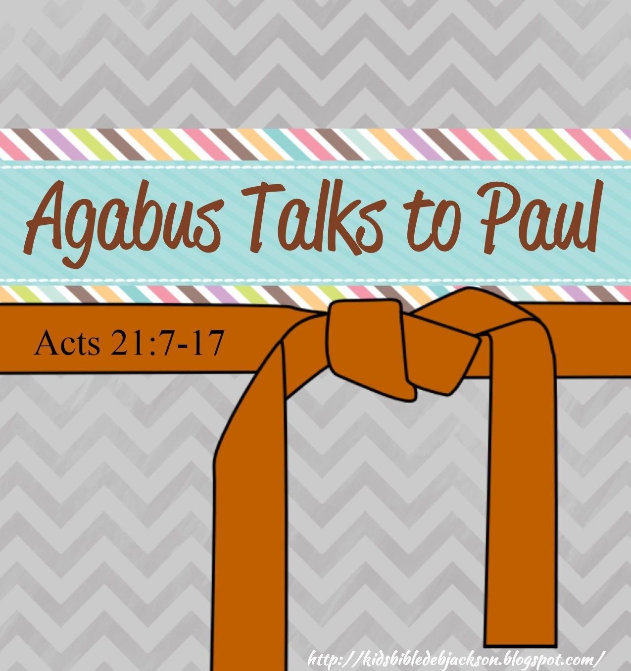 Paul And Agabus Kids Sunday School Lessons Bible Words Bible