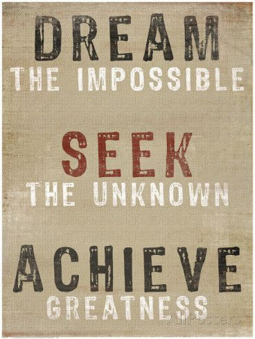 Dream The Impossible Poster | Quotes | Inspirational quotes ...