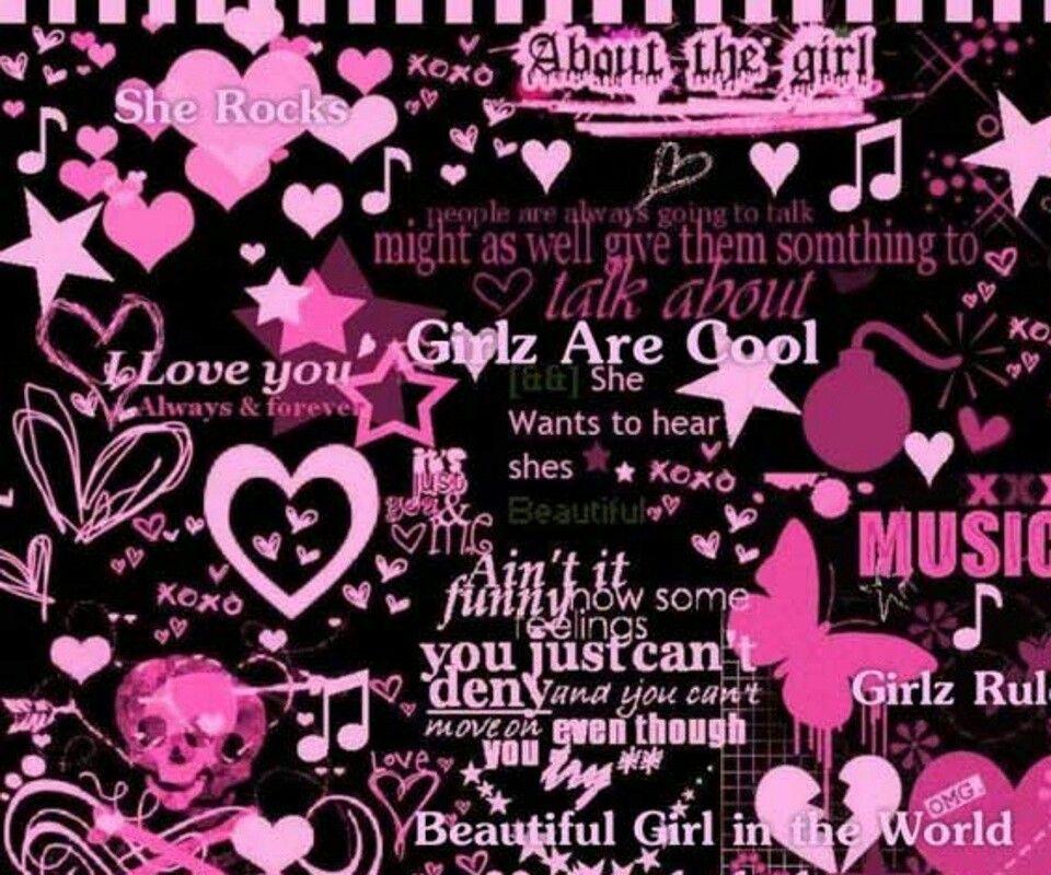 Emo Wallpaper, Love Pink Wallpaper