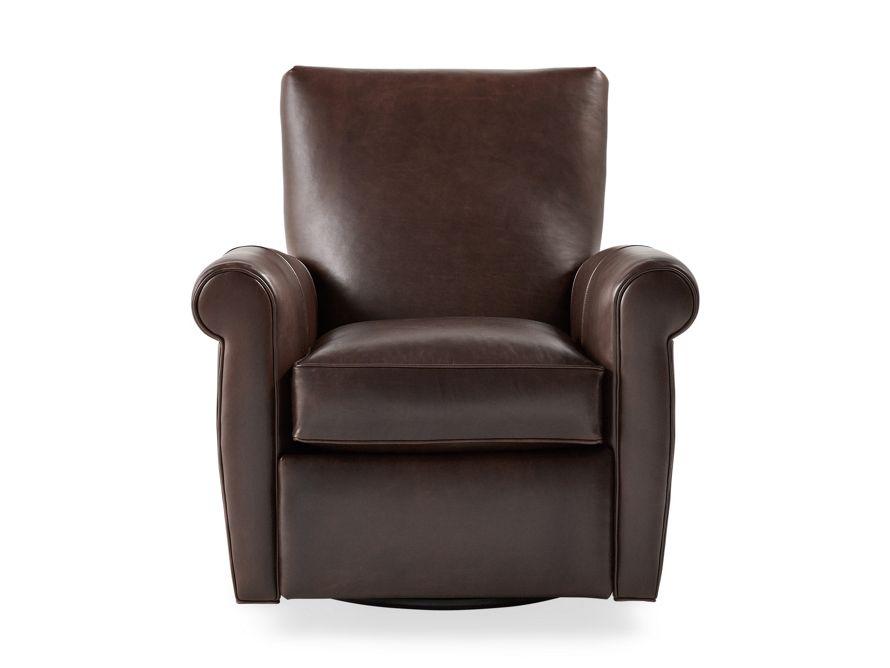 Duvall Leather Swivel Recliner Arhaus Furniture 2000 35 W X 36