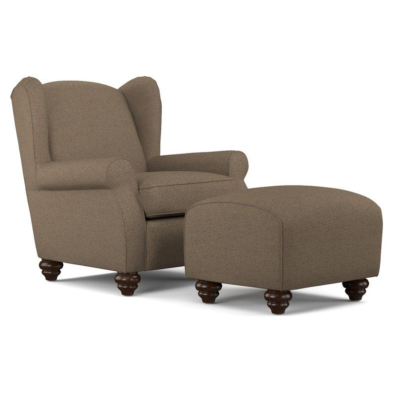 Meltzer Wingback Chair And Ottoman Chair And Ottoman Set Linen Wingback Chair Chair And Ottoman