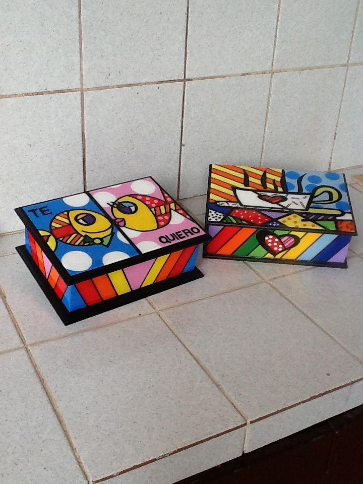 Cajas Para Te Cajas Decoradas Cajas Pintadas Cajas De Madera