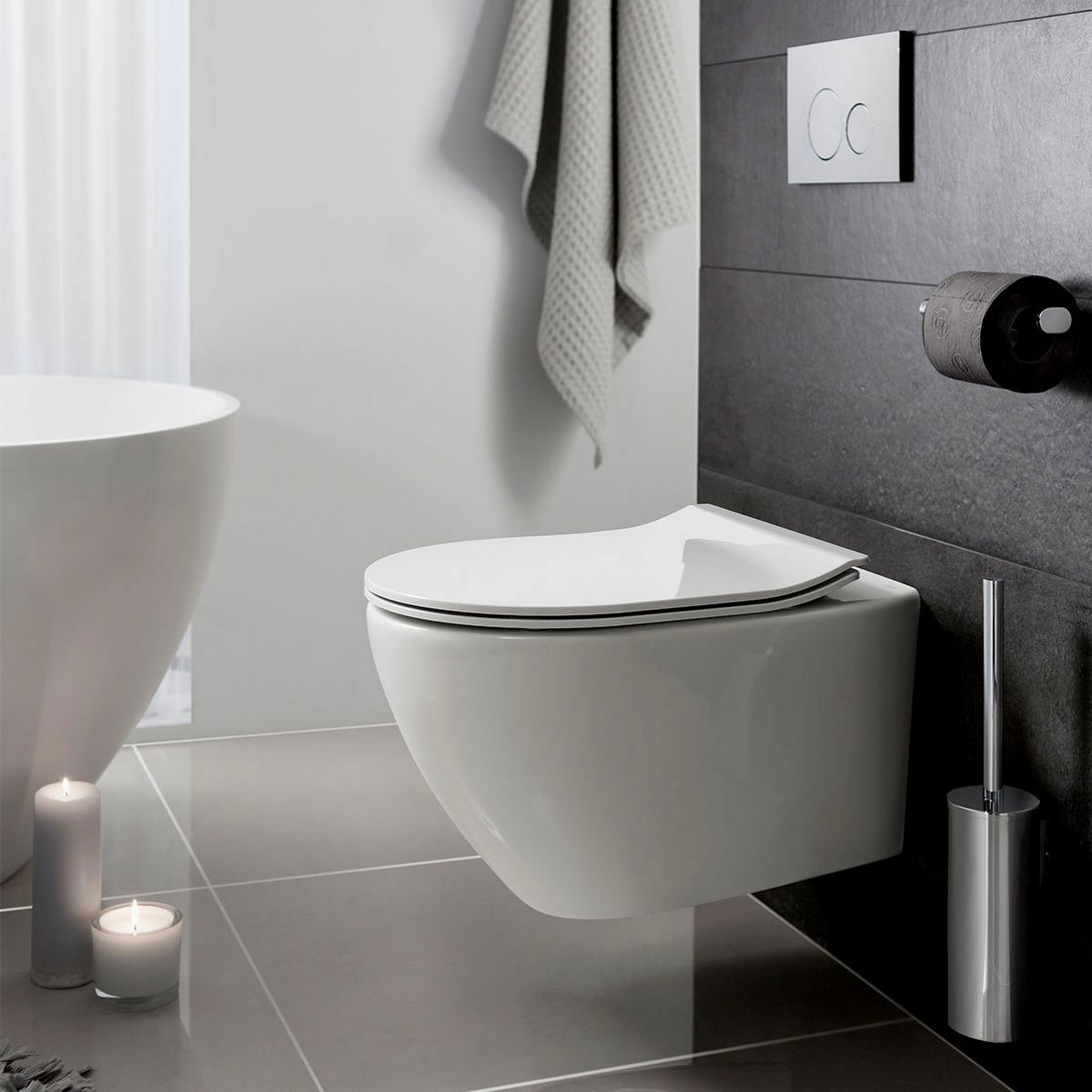 Crosswater Svelte Wall Hung Wc Back To Wall Toilets