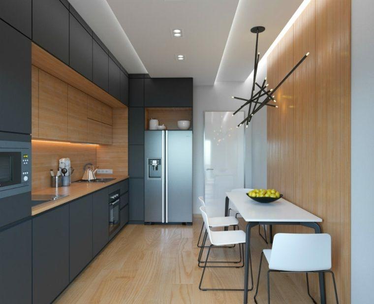 eclairage-integre-plafond-suspendu-cuisine-moderne-luminairejpg