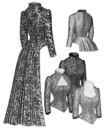 Truly Victorian #462 - 1883 Tail Bodice - Historical Sewing Pattern ...