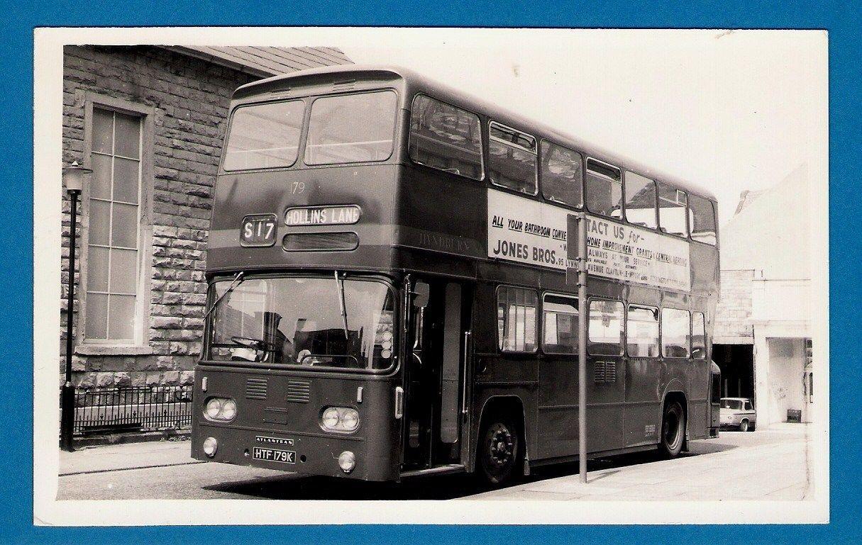 Postcard Size Bus P O Hyndburn 179 1971 Leyland Atlantean S17 Accrington Ebay