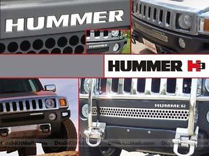 Hummer H3 06 07 08 09 10 Chrome Front Bumper Letters Inserts H 3 Not Decals Hummer Hummer H3 Bumpers