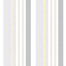 Papier Peint Vinyle Expansé Sur Intissé Pastel Rayures Beige