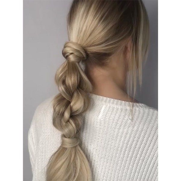 Styling How-To: Looped Braid Ponytail behindthecha