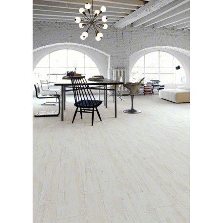 Carrelage imitation parquet blanc 213 x 893 cm - EF0601001 Lofts - peindre le carrelage sol