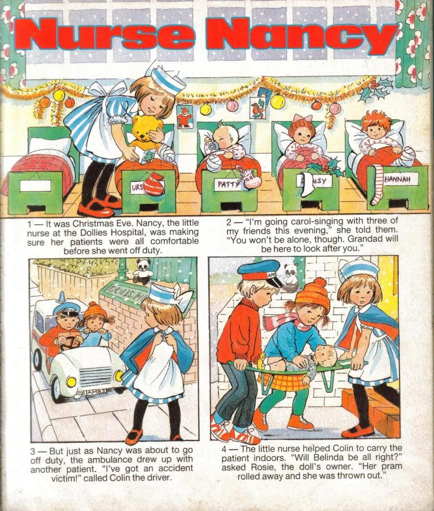 Old comics for wet play times - always tatty and a nightmare to get back in the drawer at the end of playtime.