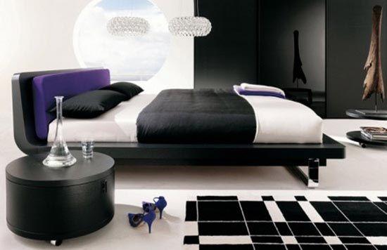 Gothic bedroom design modern