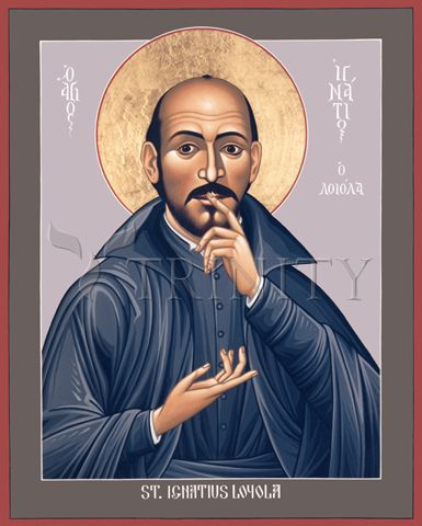 "St. Ignatius Loyola | Catholic Christian Religious Art - Icon by Br. Robert Lentz, OFM - From your Trinity Stores crew, ""Here's to Jesuit St. Ignatius!"""
