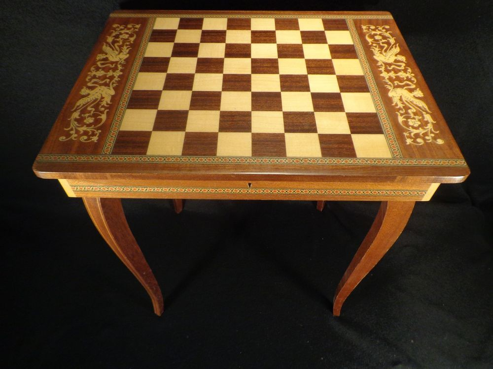 Chess Board Table Music Box