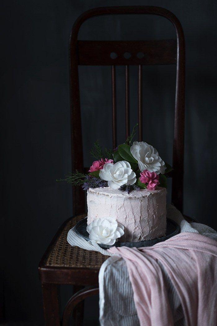 Tarta de crema de mascarpone y bizcocho de vainilla | Sabores y Momentos