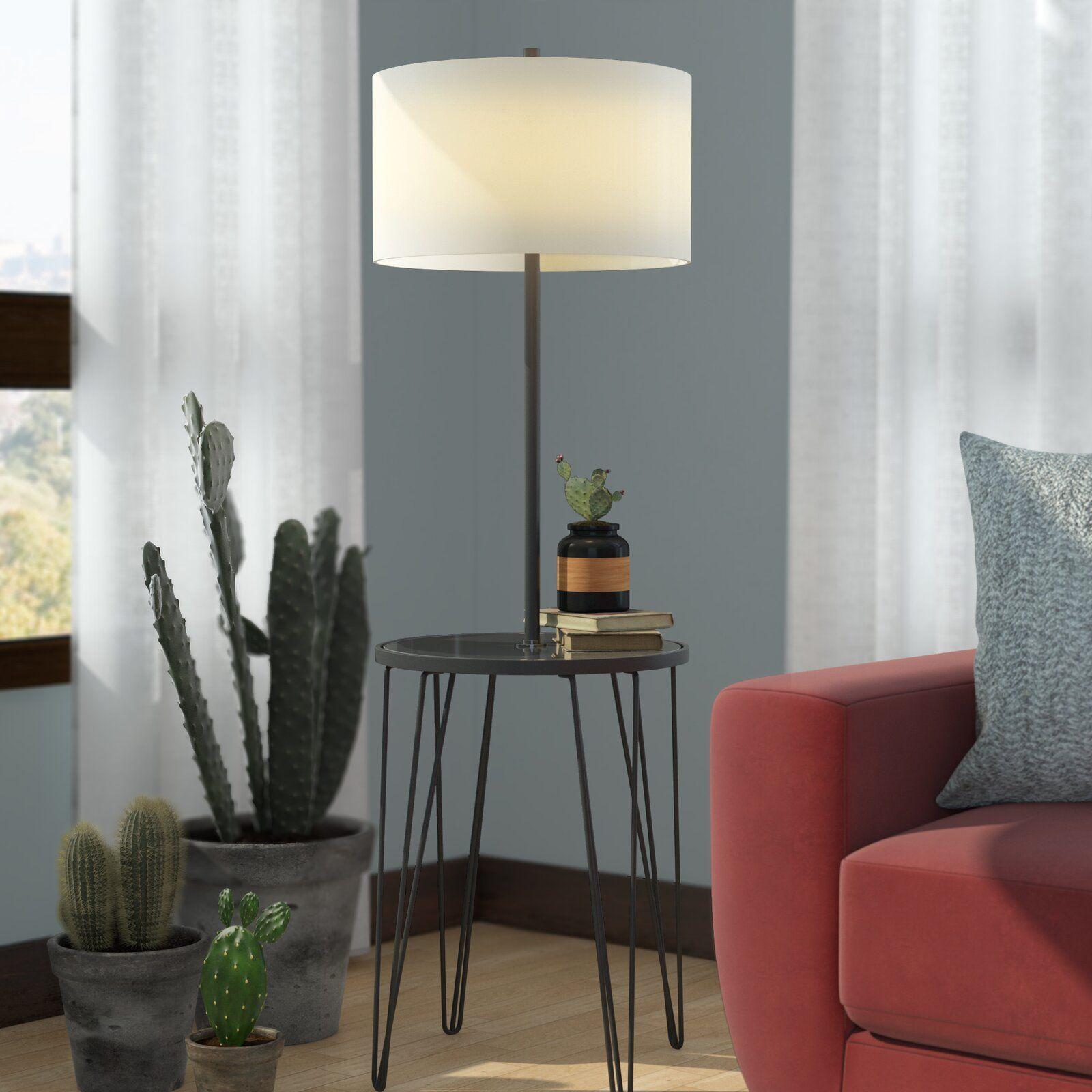 Ivy Bronx Dellinger Side Table 58 Floor Lamp Wayfair Ca Floor Lamp Table Column Floor Lamp Floor Lamp
