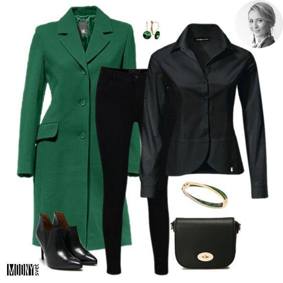 3273ae3e46e5b Dnes si ukážeme, aká úžasná je sila čiernej. Hlavne v kombinácii s nejakou  žiarivou farbou. V tomto prípade je to smaragdovo zelený kabát ❤ Stačí si  vybrať ...