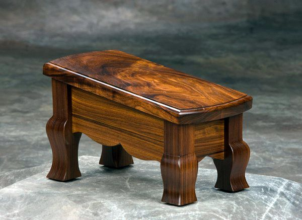 Custom Bolivian Rosewood Guitar Footstool From Ron Kieper Of Bbr Woodworks Wood Guitar Stand Wooden Footstool Wood