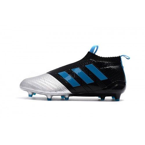 the latest 4dfb4 2950f 2017 Adidas ACE 17+ PureControl FG AG Botas De Futbol Plata Negro Azul
