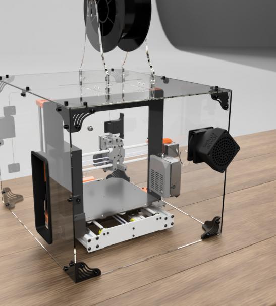 3DUPFitters Prusa i3 MK3S and MK2 Acrylic Enclosure Kit   3d printer enclosure. 3d printer. Enclosure
