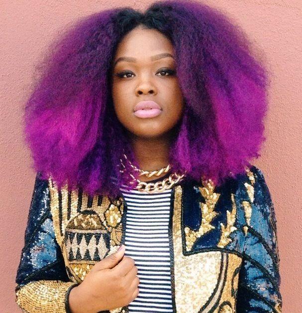 Top 13 Cute Purple Hairstyles For Black Girls This Season Natural Hair Styles Hair Color Trends Hair Styles