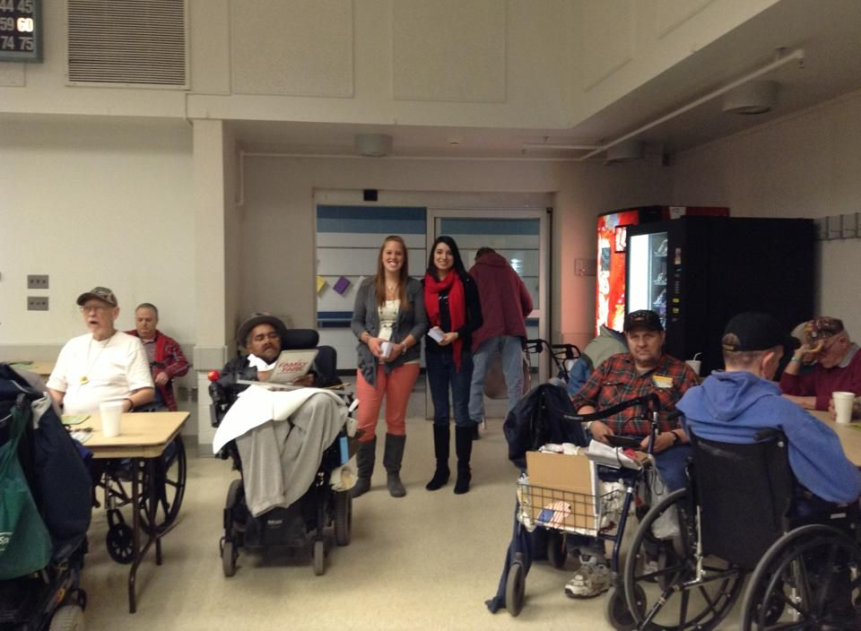 Students from Grand Rapids Community College's TRiO/Student Support Services program recently helped with a bingo night at the Grand Rapids Home for Veterans.