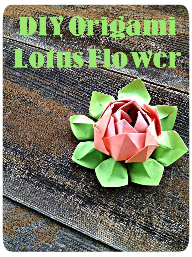 Easy Origami Lotus Flower Demoyou Dont Even Have To Use Origami