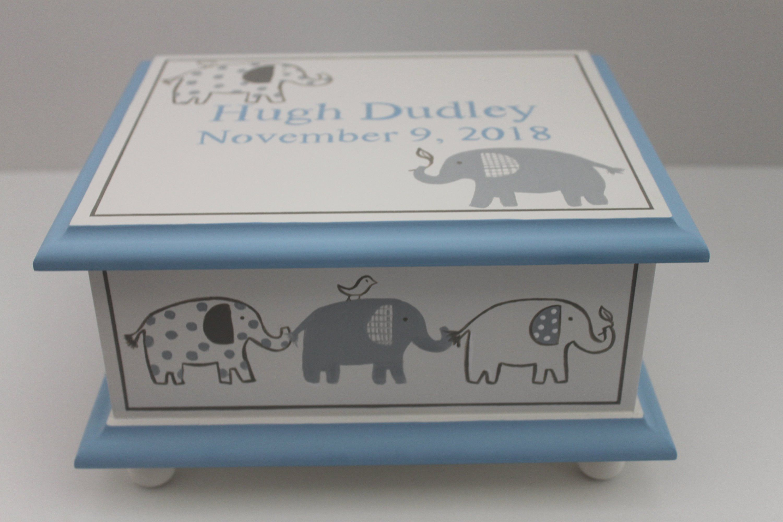 Baby Boy Treasure Chest Keepsake Medium Gift Set