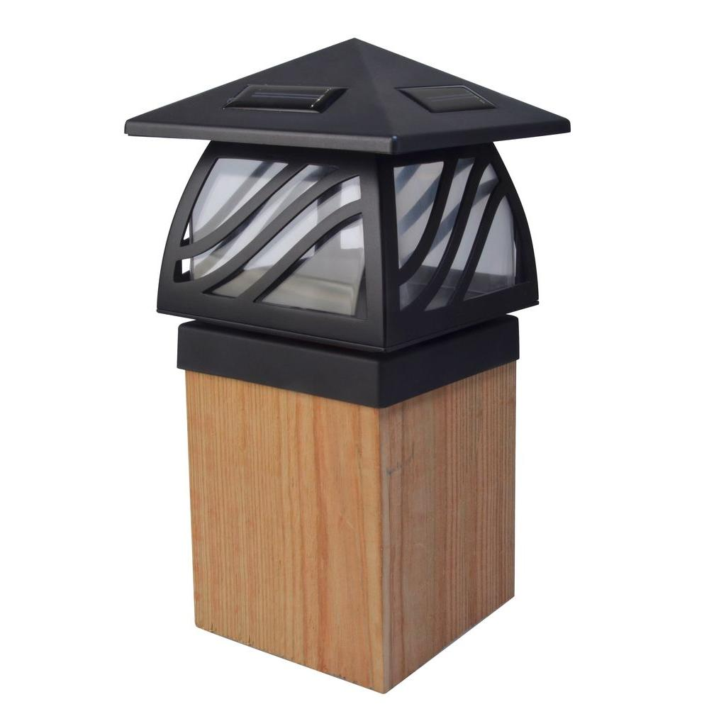 Moonrays Solar Black Outdoor Integrated Led Post Cap Deck Light Deck Post Lights Solar Post Caps Fence Post Caps