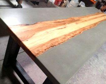 Küchentisch aus Beton und Stahl  #aus #beton #kuchentisch #stahl #und #kuchentisch