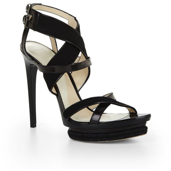 Herve Leger Leather T-Strap Sandals sale with credit card outlet pay with paypal buy cheap lowest price AiAqMic