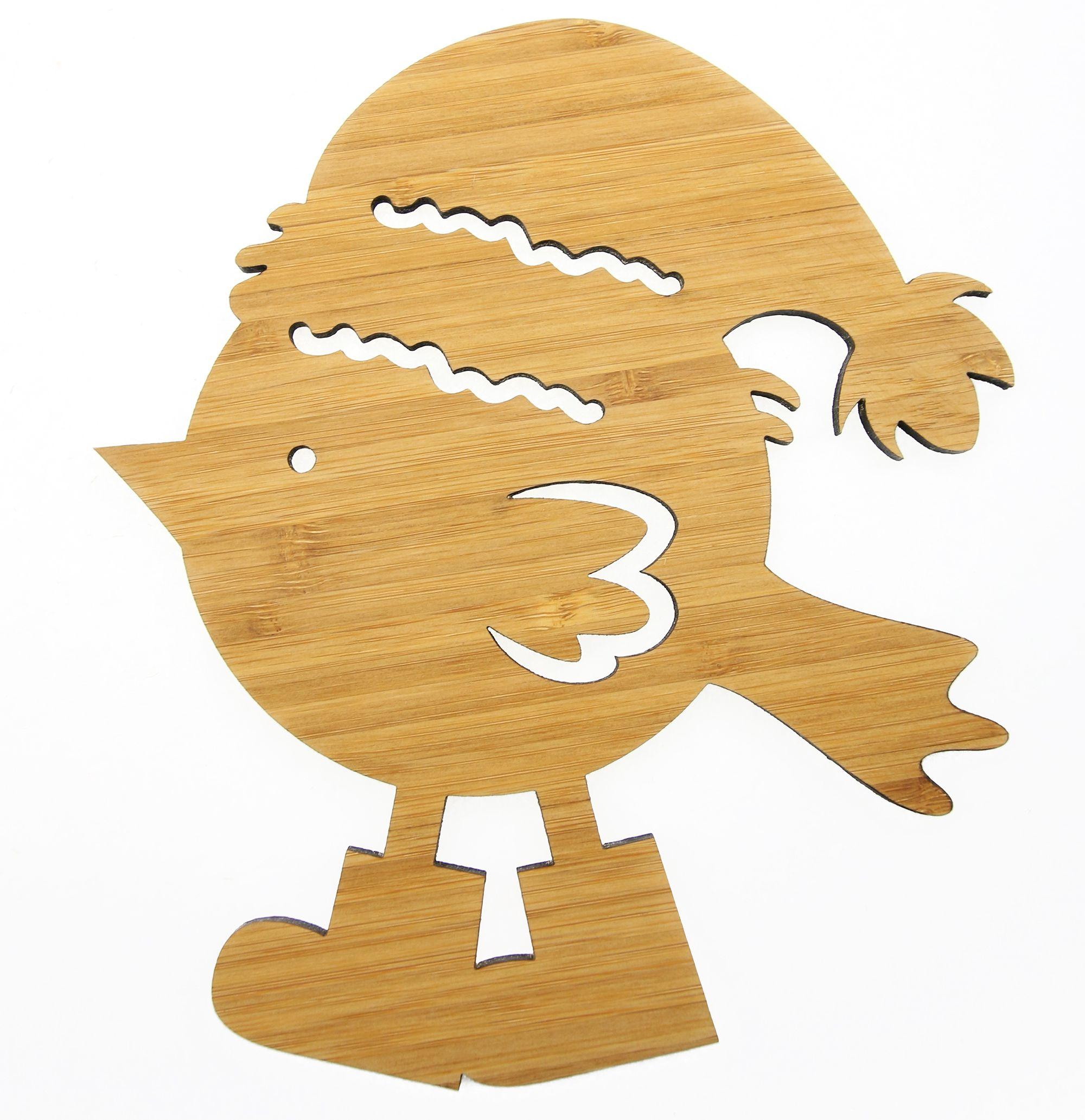 Wanddeko wintervogel mit stiefeln aus bambus coffee das - Wanddeko bambus ...