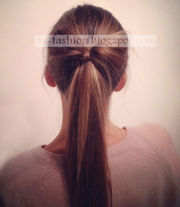 عمل تسريحة ذيل الحصان بالصور Dz Fashion Diy Ponytail Perfect Ponytail Short Hair Ponytail