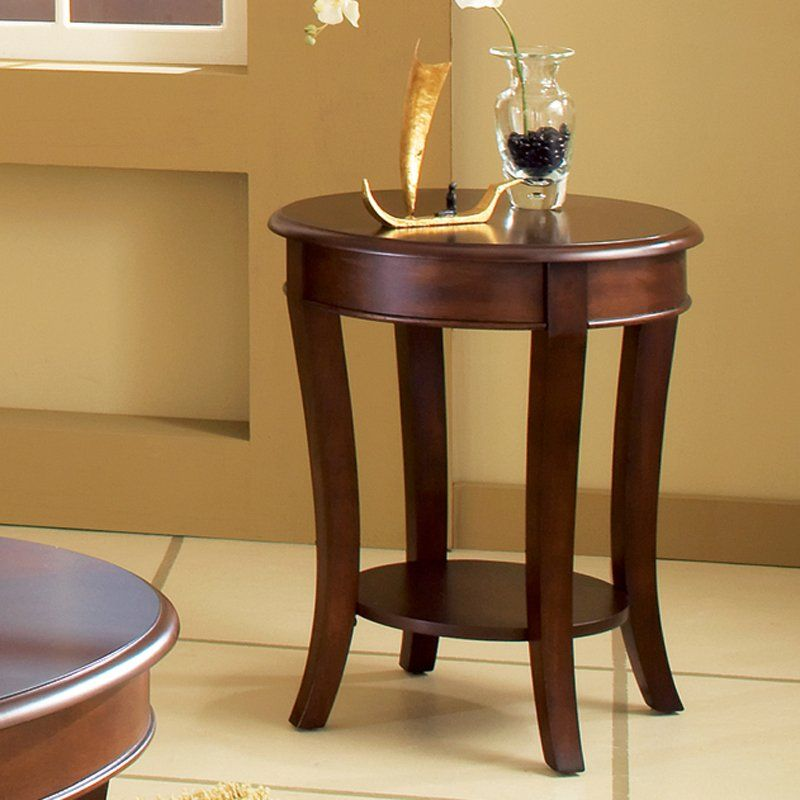 Steve Silver Troy Round Cherry Wood End Table 168 99