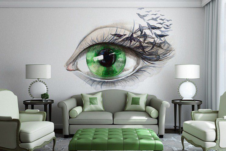 Refreshing Wall Mural Ideas For Your Living Room Murals Pinterest