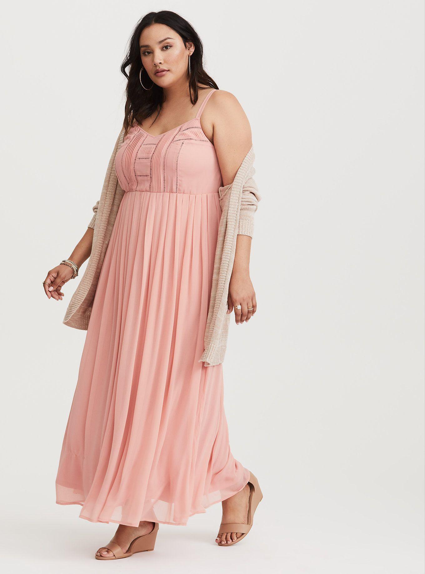 231fdfa9714 Plus Size Pleated Chiffon Maxi Dress - Gomes Weine AG