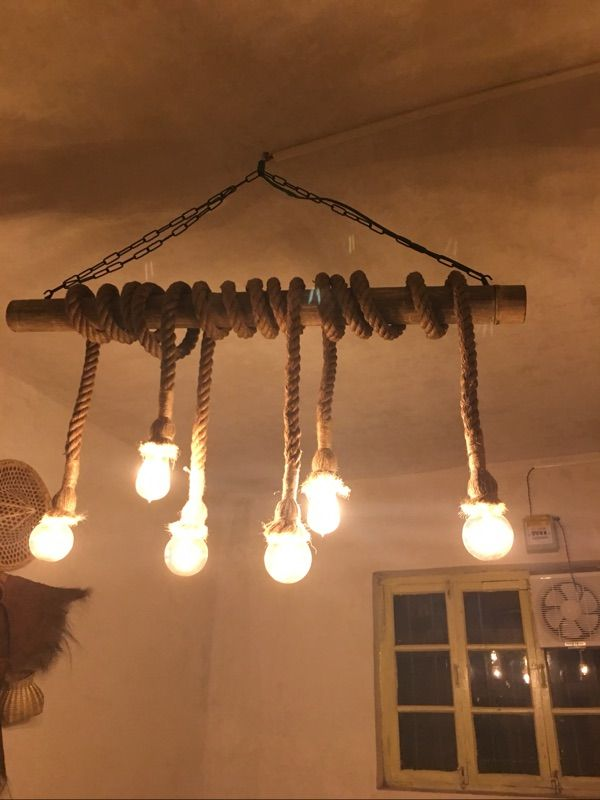 1M Vintage Retro Rope Pendant Light Loft Creative Industrial Lamp For Living Room AC 90 260V