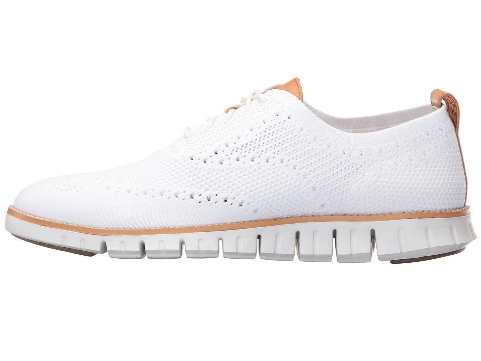 9be654b6ed1f6c Cole Haan Zerogrand Stitchlite Oxford Men s Plain Toe Shoes Optic White  White
