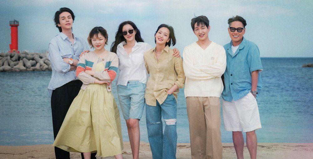 Lee Dong Wook, Lee Ji Ah, Kim Go Eun, Onew, Suhyun, & Yoon Jong Shin say hello from the sea in new JTBC variety poster