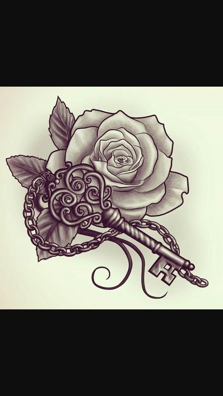 Pin By Jolene Lytle On Lock Key Tat Rose Tattoo Design Tattoos Tattoo Pattern