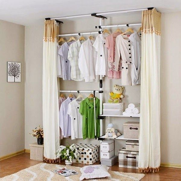 Image Result For Open Closet Ideas With Curtains