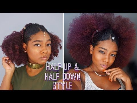 Natural Black Summer Hairstyles Slick Back Half Up Half Down Festival Style The Mane Choice Yo Natural Hair Styles Natural Hair Styles Easy Hot Hair Styles